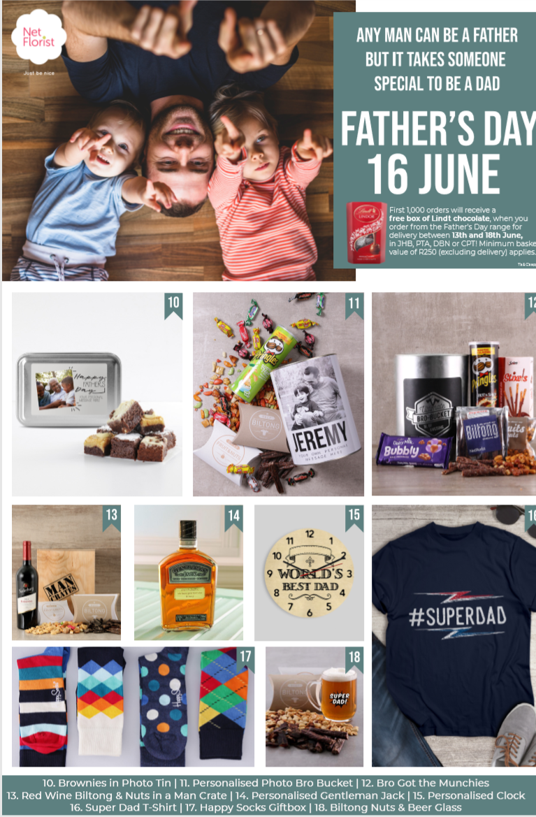 Father's Day gifts from Netflorist